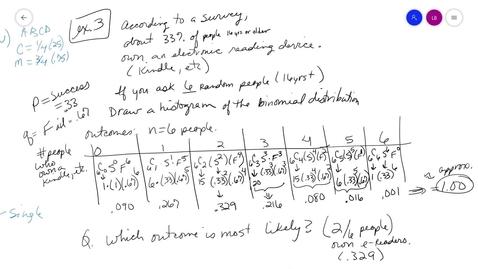 Thumbnail for entry alg2 10-6 Part2 ex3 Binom Distrib MrsB