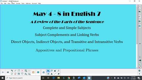 Thumbnail for entry May 4-8 in English 7