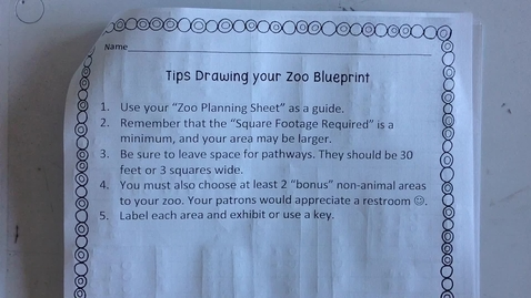 Thumbnail for entry Design a Zoo Blueprint