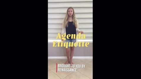 Thumbnail for entry Agenda Etiquette CHJH 2020-2021