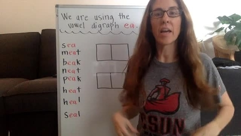 Thumbnail for entry vowel digraph ea