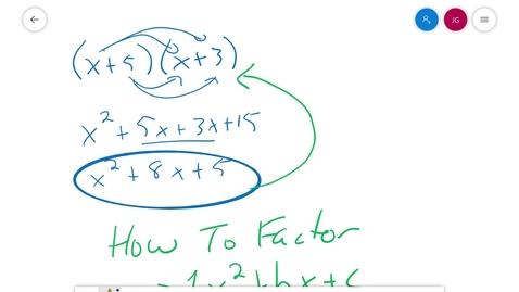 Thumbnail for entry Algebra 1 FF 3.5 Solving Quadratic Equations