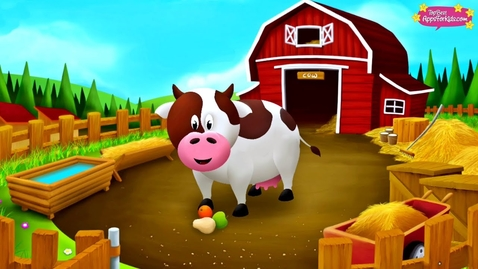 Thumbnail for entry 10 Farm Animals 🐄 Learn their Names + Sounds 🐖 Animal Story App for Kids