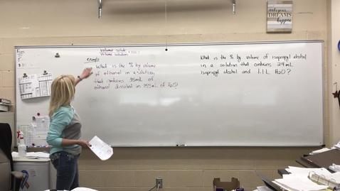 Thumbnail for entry Percent Volume (MCHS Chemistry Lesson)