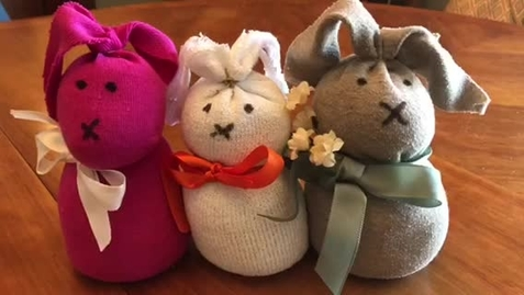 Thumbnail for entry 4/8/20- No Sew Sock Bunnies with Miss Stephanie