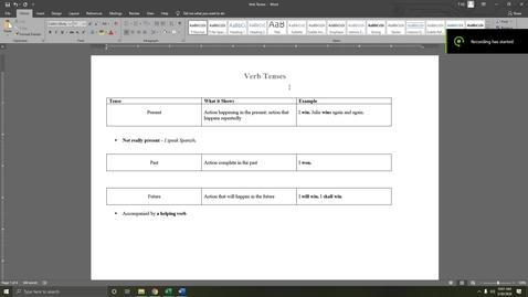 Thumbnail for entry 9.4 - Verb Tenses