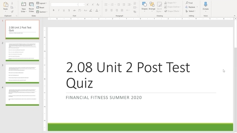 Thumbnail for entry Financial Fitness Quiz 2.08 Instructional Video