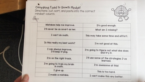 Thumbnail for entry Fixed v. Growth Mindset worksheet