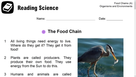 Thumbnail for entry Reading Science- The Food Chain