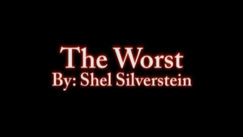Thumbnail for entry The Worst