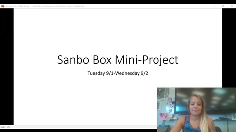 Thumbnail for entry Sanbo Box_ Instructions Distance Learners
