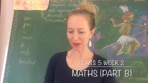 Thumbnail for entry Class 5 T2 W2 Maths Part B