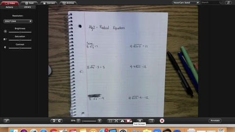 Thumbnail for entry Alg2 Radical Equations