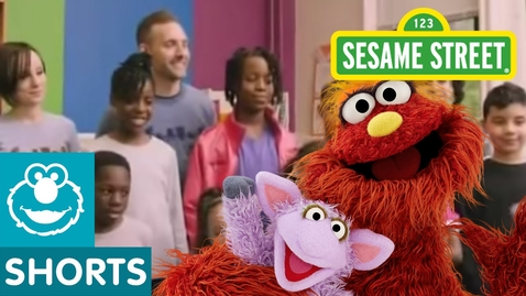 Thumbnail for entry Sesame Street: Murray Makes Recycled Artwork   Murray Had a Little Lamb