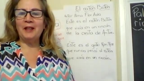 Thumbnail for entry 04/28_Mensaje de la Mañana con Mrs. Corzo_Palabras que riman en un poema.