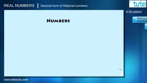 Thumbnail for entry 03 - Decimal Form Of Rational Numbers