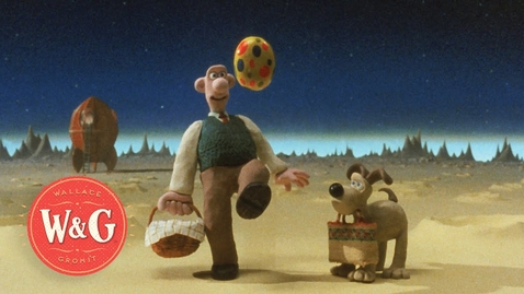 Thumbnail for entry A Grand Day Out - Landing on the Moon - Wallace and Gromit