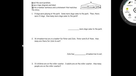 Thumbnail for entry Problem Set Lesson 20