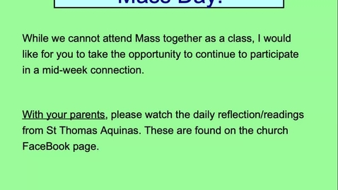 Thumbnail for entry Mass Day Directions