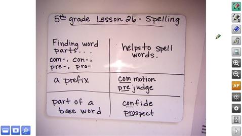 Thumbnail for entry 5.26 Spelling Video