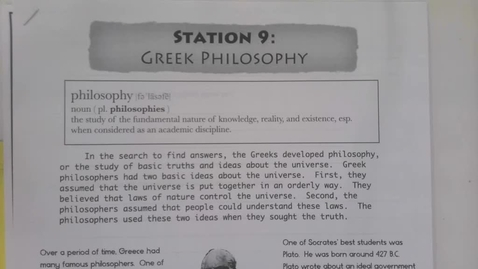 Thumbnail for entry 6th Grade Social Studies - Greek Philosophers and Alexander the Great Part 1 - May 6