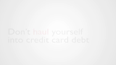 Thumbnail for entry Haul video parody: Don't haul yourself into credit card debt