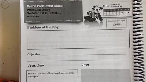 Thumbnail for entry SWUN Grade 3  Unit 11 Lesson 13
