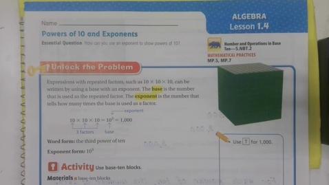 Thumbnail for entry Math 1.4 - Wednesday September 2 - 5th Grade