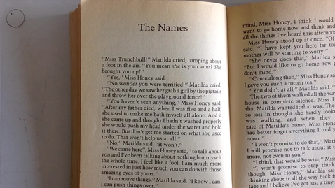 Thumbnail for entry Matilda Chapter 18: The Names
