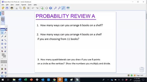 Thumbnail for entry Geometry Review A for Probability Video