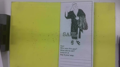 Thumbnail for entry 6th Grade Bible - Saul and Paul - Wednesday May 27