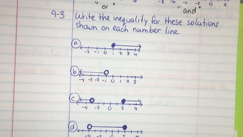 Thumbnail for entry IM1 9.1.1 part2 Inequality Solutions