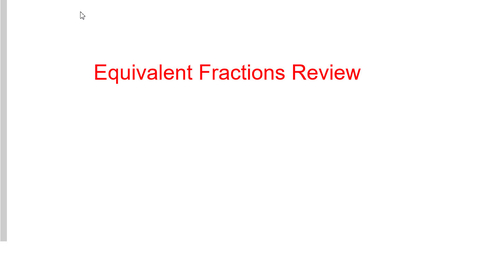 Thumbnail for entry Equivalent Fractions Review