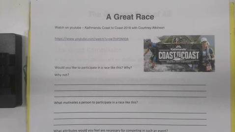 Thumbnail for entry 6th Grade Bible Great Race, Thursday, May 21