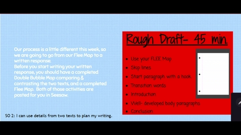 Thumbnail for entry Flee Map to Rough Draft - Explanation