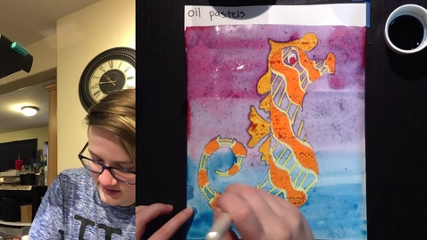 Thumbnail for entry seahorse, homemade watercolors