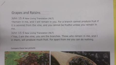 Thumbnail for entry 6th Grade Bible - Grapes and Raisins - Tuesday May 19