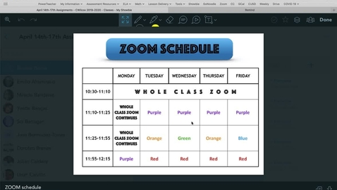 Thumbnail for entry ZOOM CHANGES AND NAVIGATING SHOWBIE