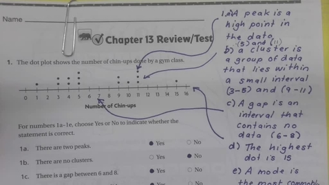 Thumbnail for entry 6th Grade Math - Chapter 13 Review - Wednesday May 27