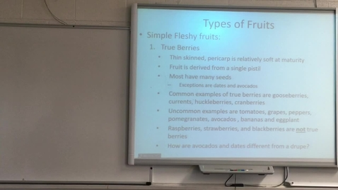 Thumbnail for entry Lecture Simple Fleshy Fruits Part 2