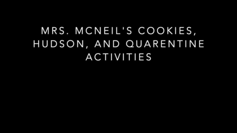 Thumbnail for entry Mrs McNeil's cookies, puppy and family olympics!!