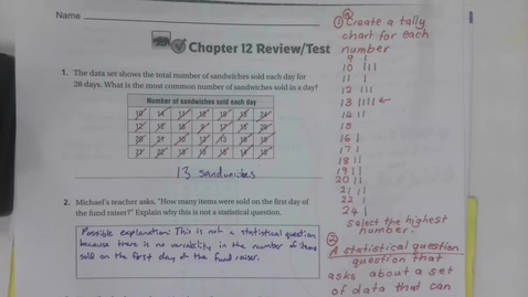 Thumbnail for entry 6th Grade Chapter 12 Review  Part 1 - Monday May 4