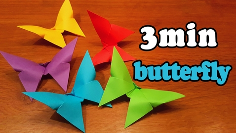Thumbnail for entry How To Make an Easy Origami Butterfly (in 3 MINUTES!)
