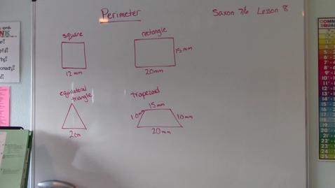 Thumbnail for entry Saxon 7/6 - Lesson 8 - Perimeter