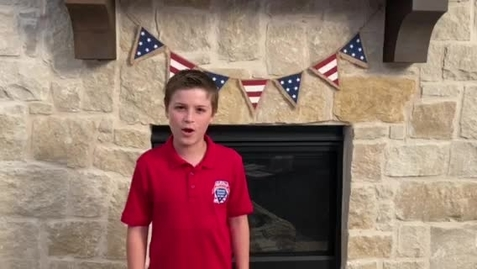 Thumbnail for entry 6th Grade Honor Guard Pledges led by Blake!