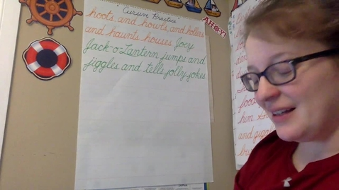 Thumbnail for entry Cursive Practice - Sentences 7 - 9