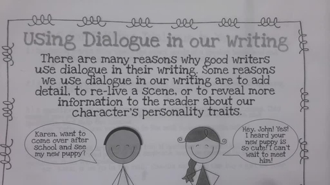 Thumbnail for entry 6th Grade Writing - Punctuating dialogue - May 6
