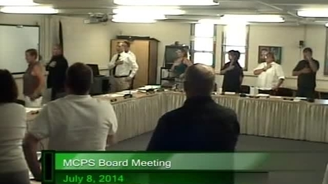 Thumbnail for entry MCPS Board Meeting July 8th, 2014