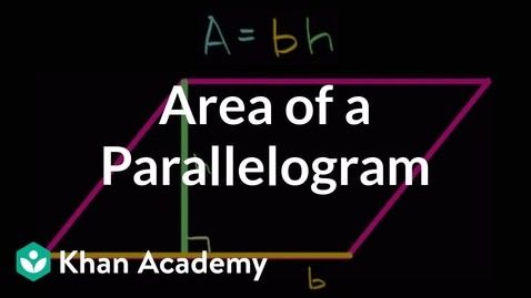 Thumbnail for entry Day- 8   Area of parallelograms intuition | Algebra I |
