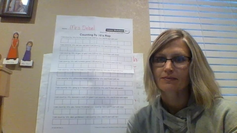 Thumbnail for entry Thursday 4/16: Math Lesson 90- Counting by 10's from a single digit number